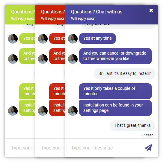 Chat widget customization